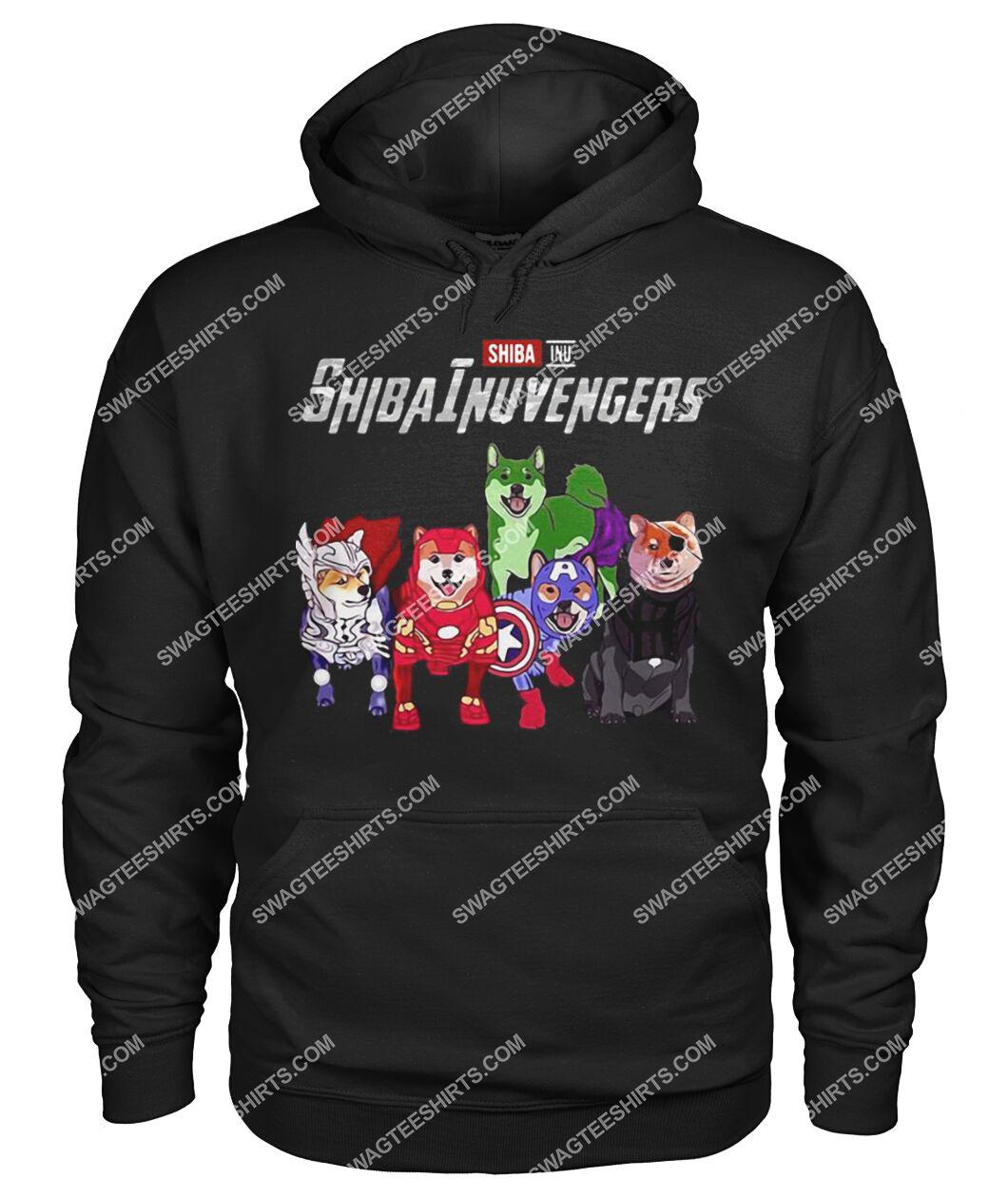 shiba inu shibainuvengers marvel avengers dogs lover hoodie 1