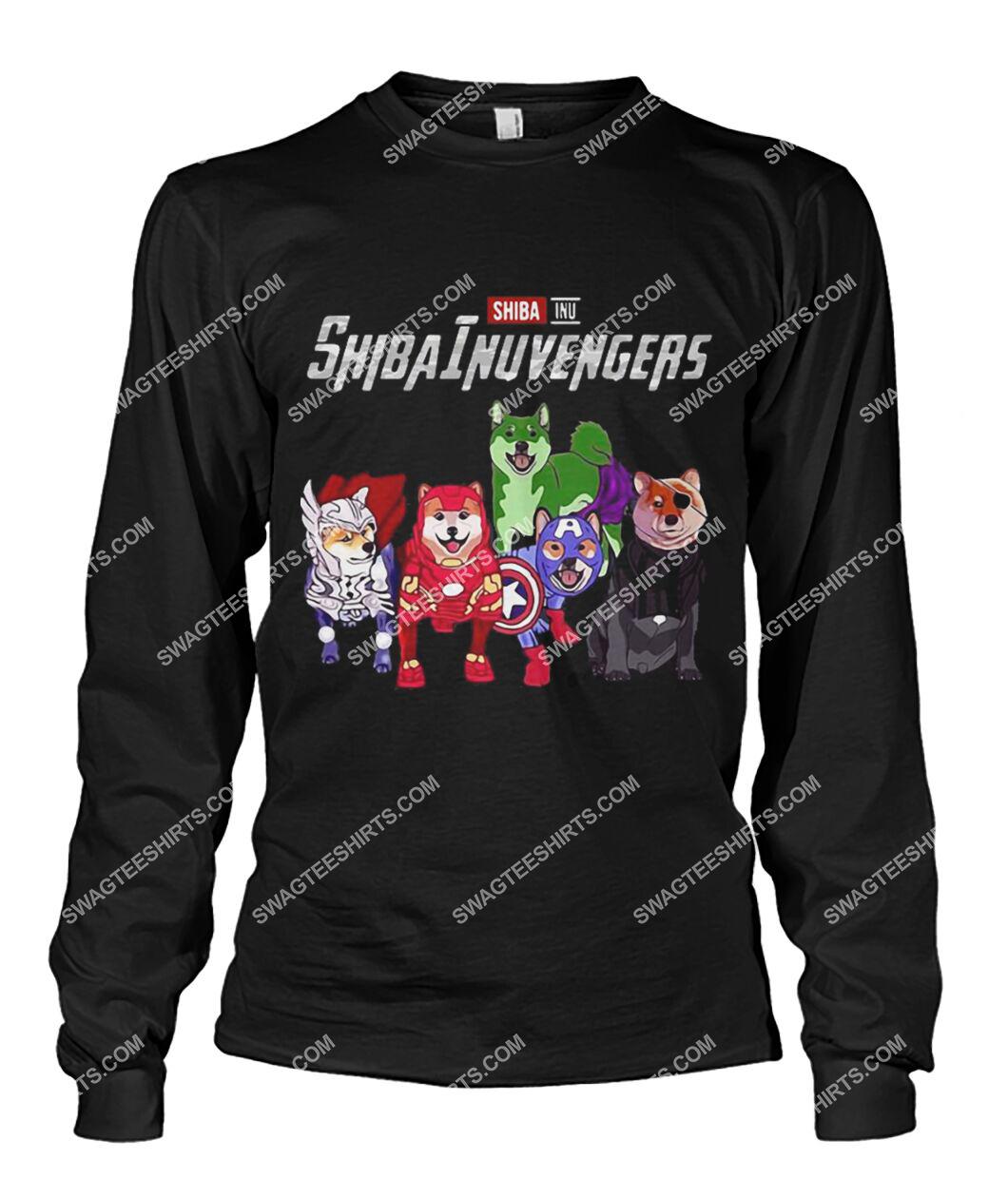 shiba inu shibainuvengers marvel avengers dogs lover sweatshirt 1