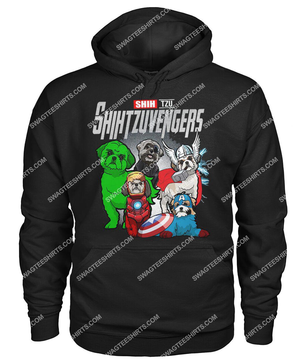 shih tzu shihtzuvengers marvel avengers dogs lover hoodie 1