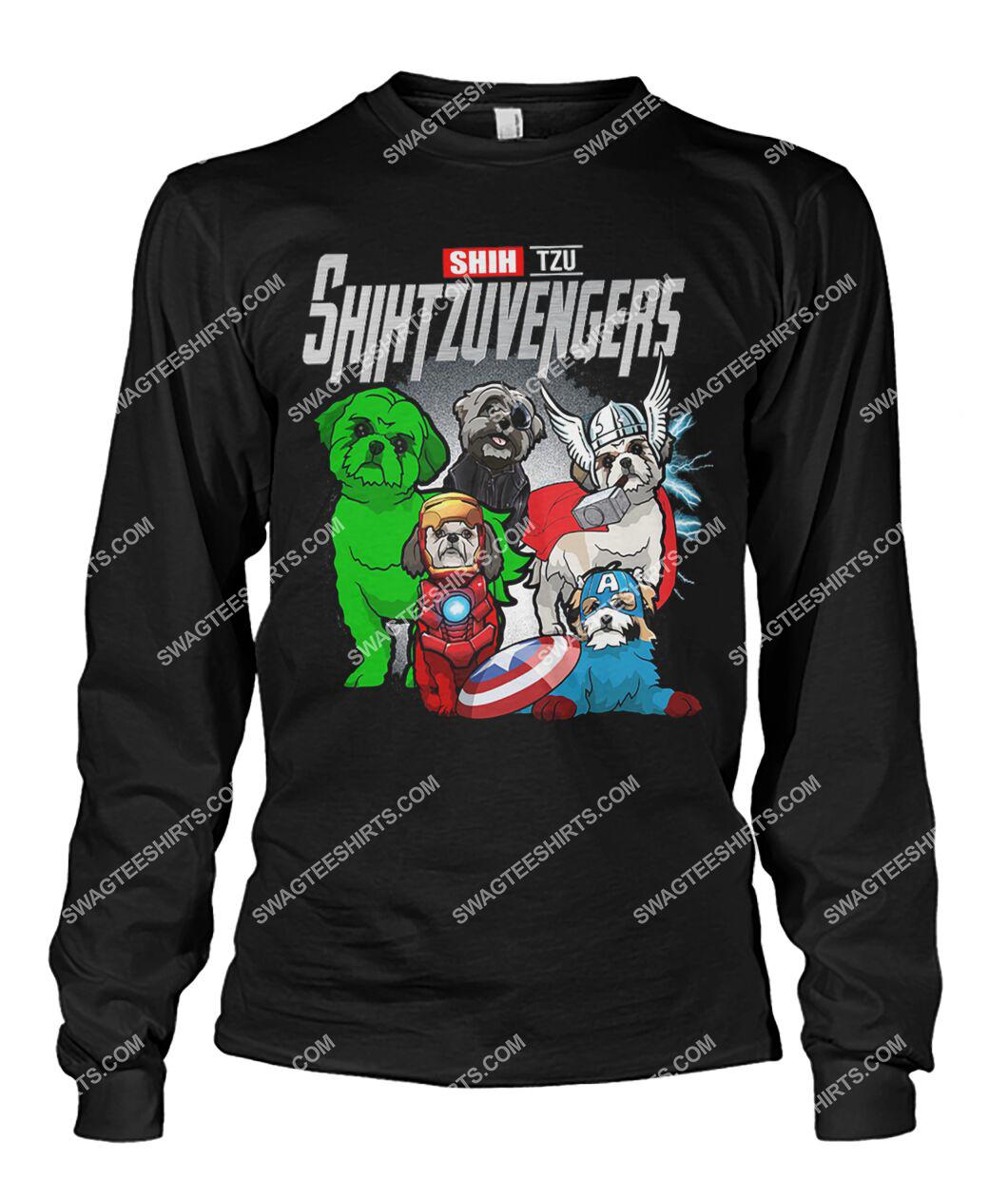 shih tzu shihtzuvengers marvel avengers dogs lover sweatshirt 1