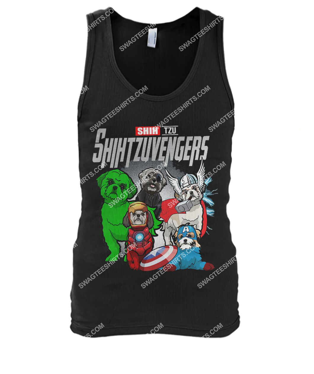 shih tzu shihtzuvengers marvel avengers dogs lover tank top 1