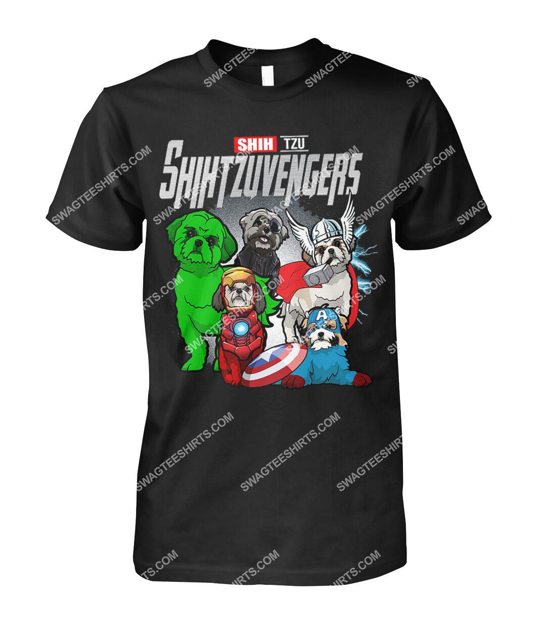 shih tzu shihtzuvengers marvel avengers dogs lover tshirt 1