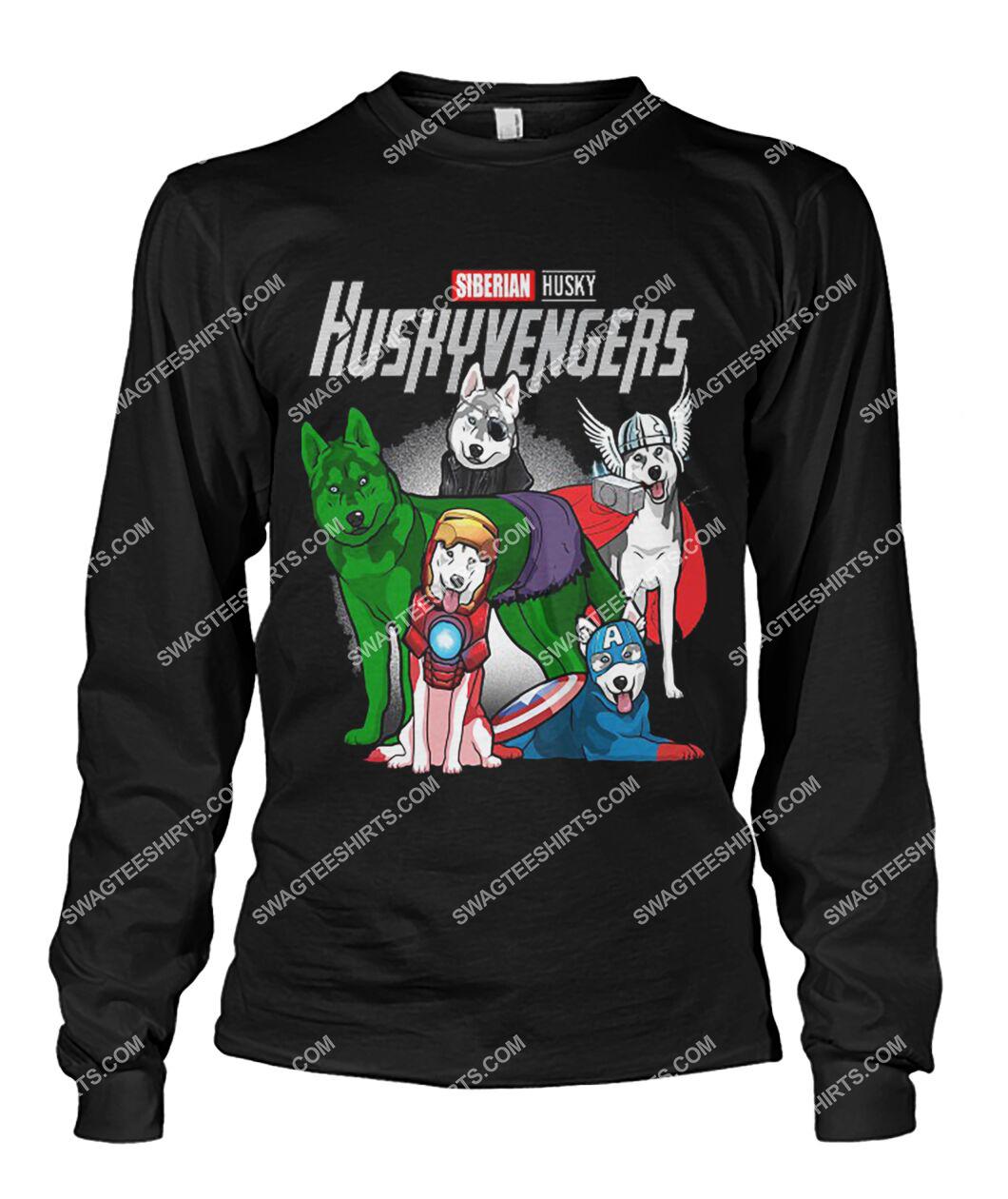 siberian husky huskyvengers marvel avengers dogs lover sweatshirt 1