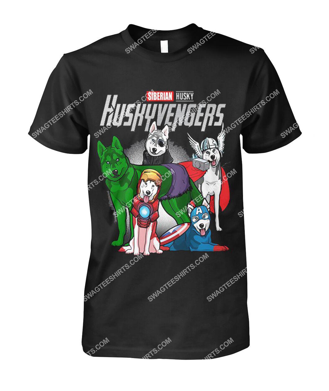 siberian husky huskyvengers marvel avengers dogs lover tshirt 1