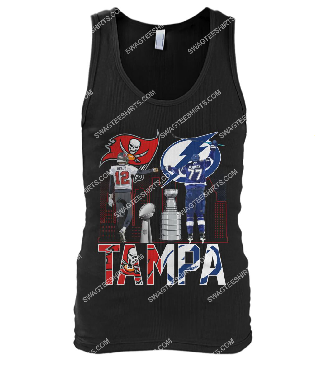 tampa bay buccaneers and tampa bay lightning tank top 1