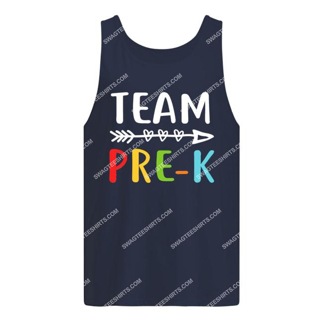 team pre-k teacher student back to school tank top 1