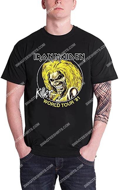 the iron maiden rock band killers world tour 81 shirt 1 - Copy
