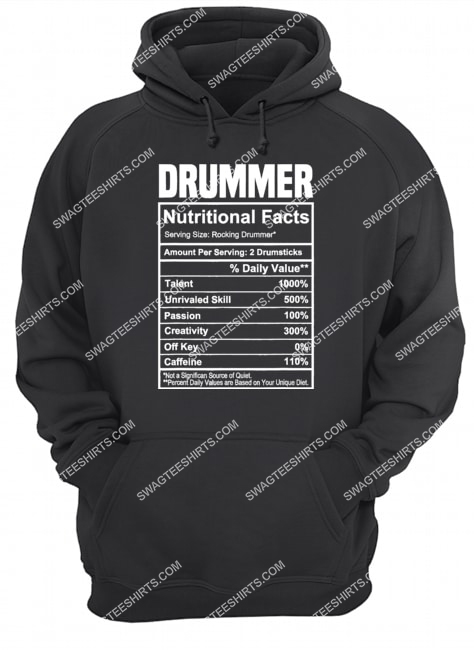 vintage drummer nutrition facts gifts father's day hoodie 1