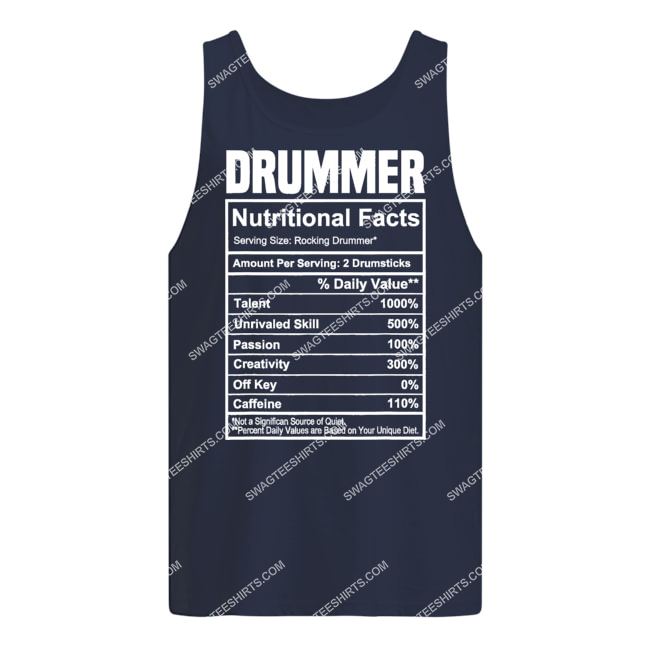 vintage drummer nutrition facts gifts father's day tank top 1