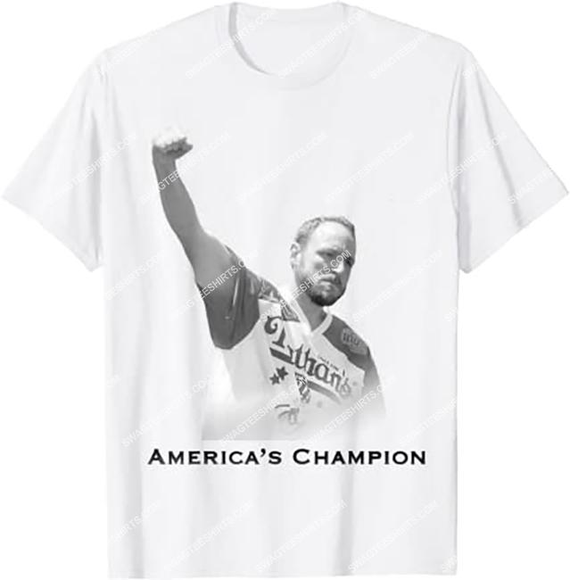 vintage joey chestnut america's champion shirt 1
