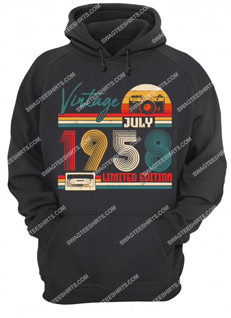 vintage july 1958 limited edition 63rd birthday gift hoodie 1