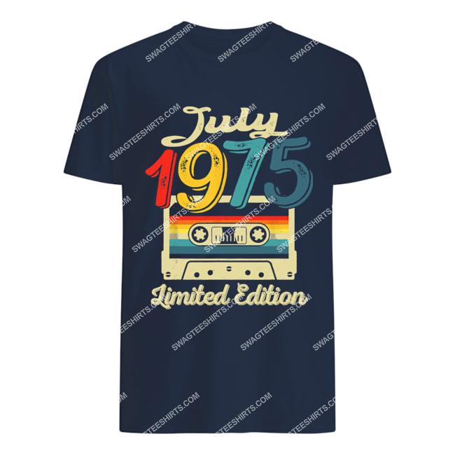vintage july 1975 limited edition 46th birthday gift tshirt 1
