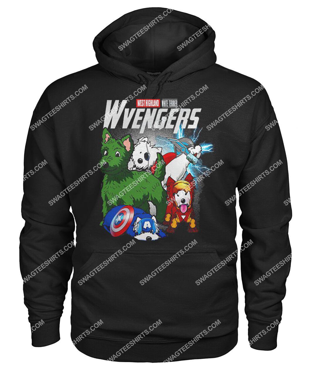 west highland white terrier wvengers marvel avengers dogs lover hoodie 1