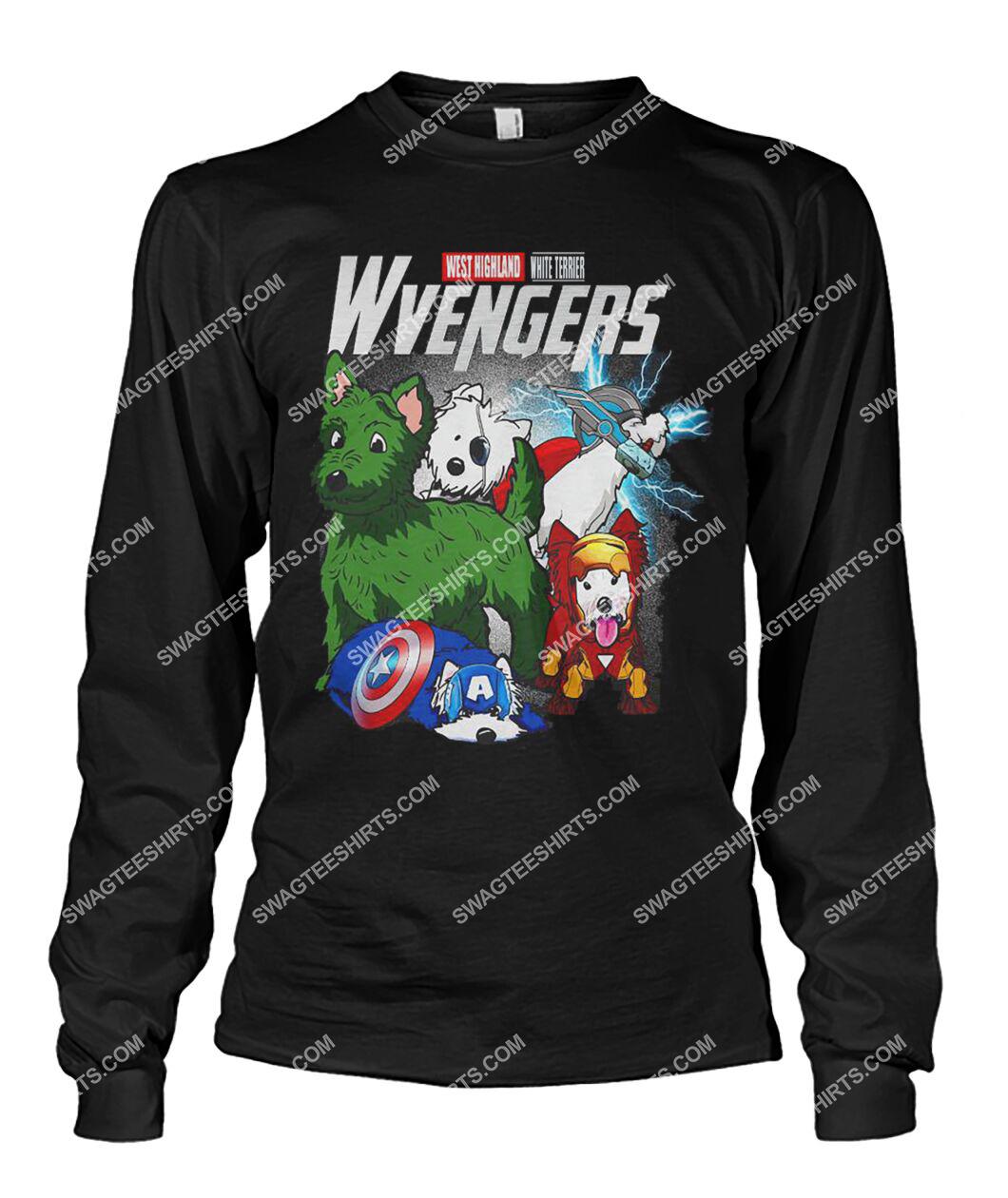 west highland white terrier wvengers marvel avengers dogs lover sweatshirt 1