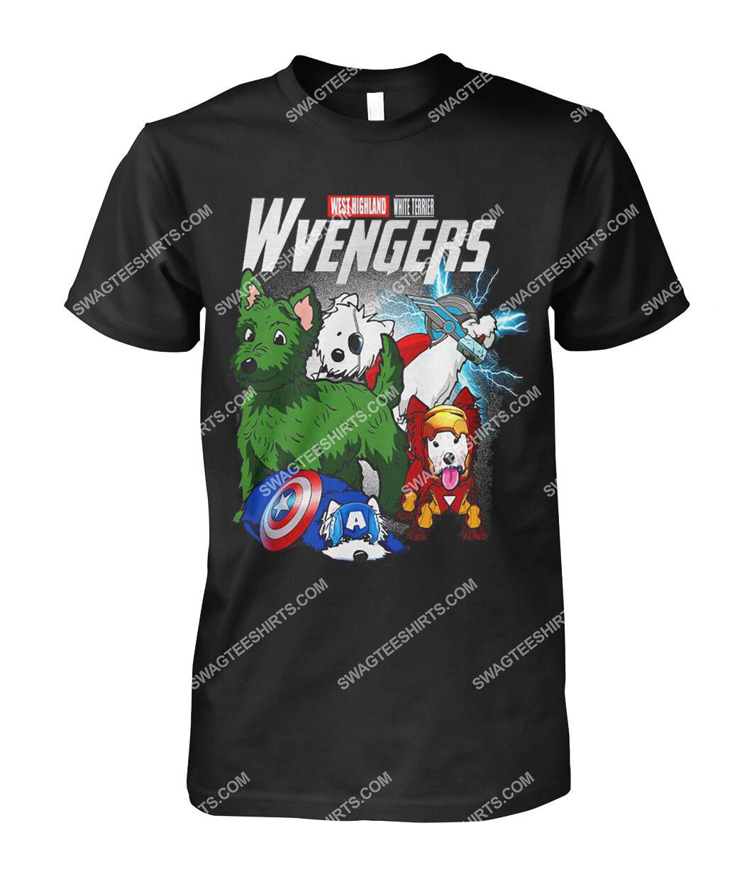west highland white terrier wvengers marvel avengers dogs lover tshirt 1