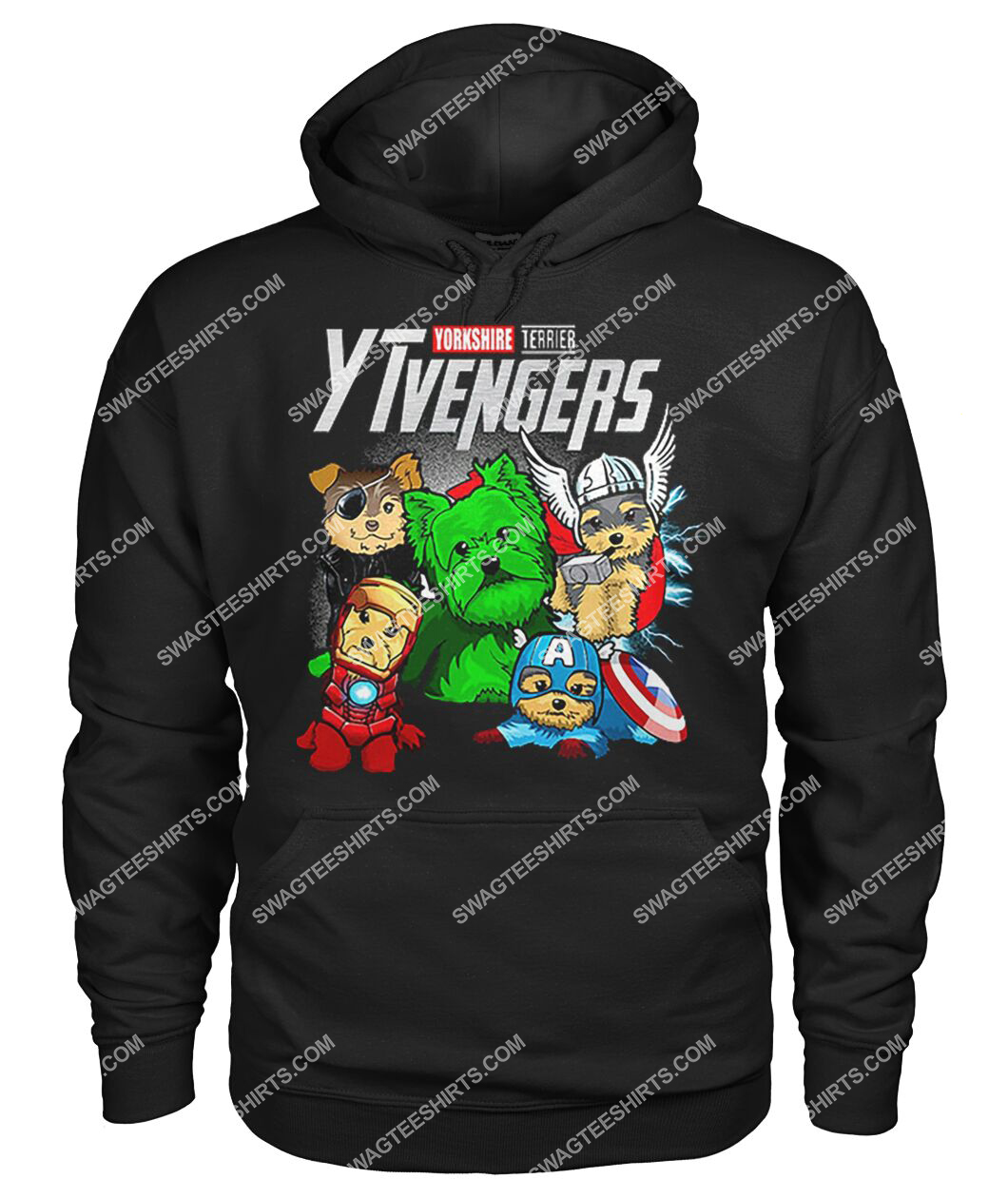 yorkshire terrier ytvengers marvel avengers dogs lover hoodie 1