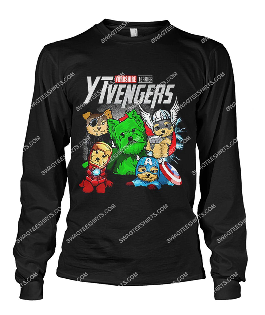 yorkshire terrier ytvengers marvel avengers dogs lover sweatshirt 1