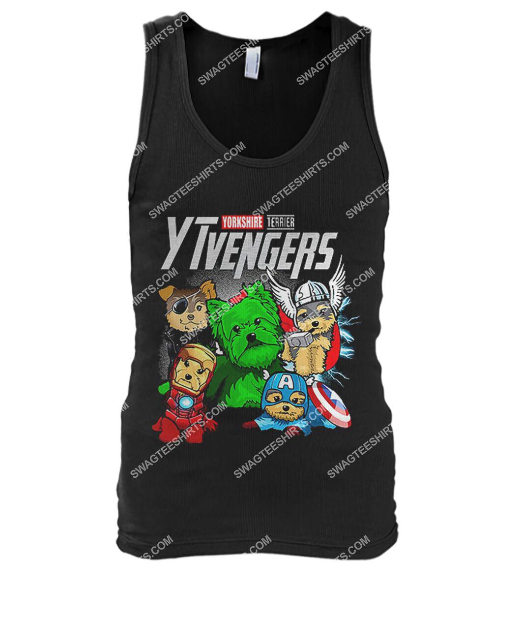 yorkshire terrier ytvengers marvel avengers dogs lover tank top 1