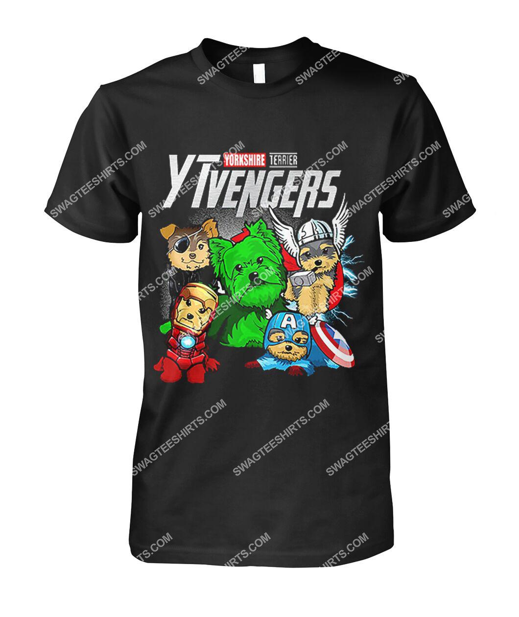 yorkshire terrier ytvengers marvel avengers dogs lover tshirt 1