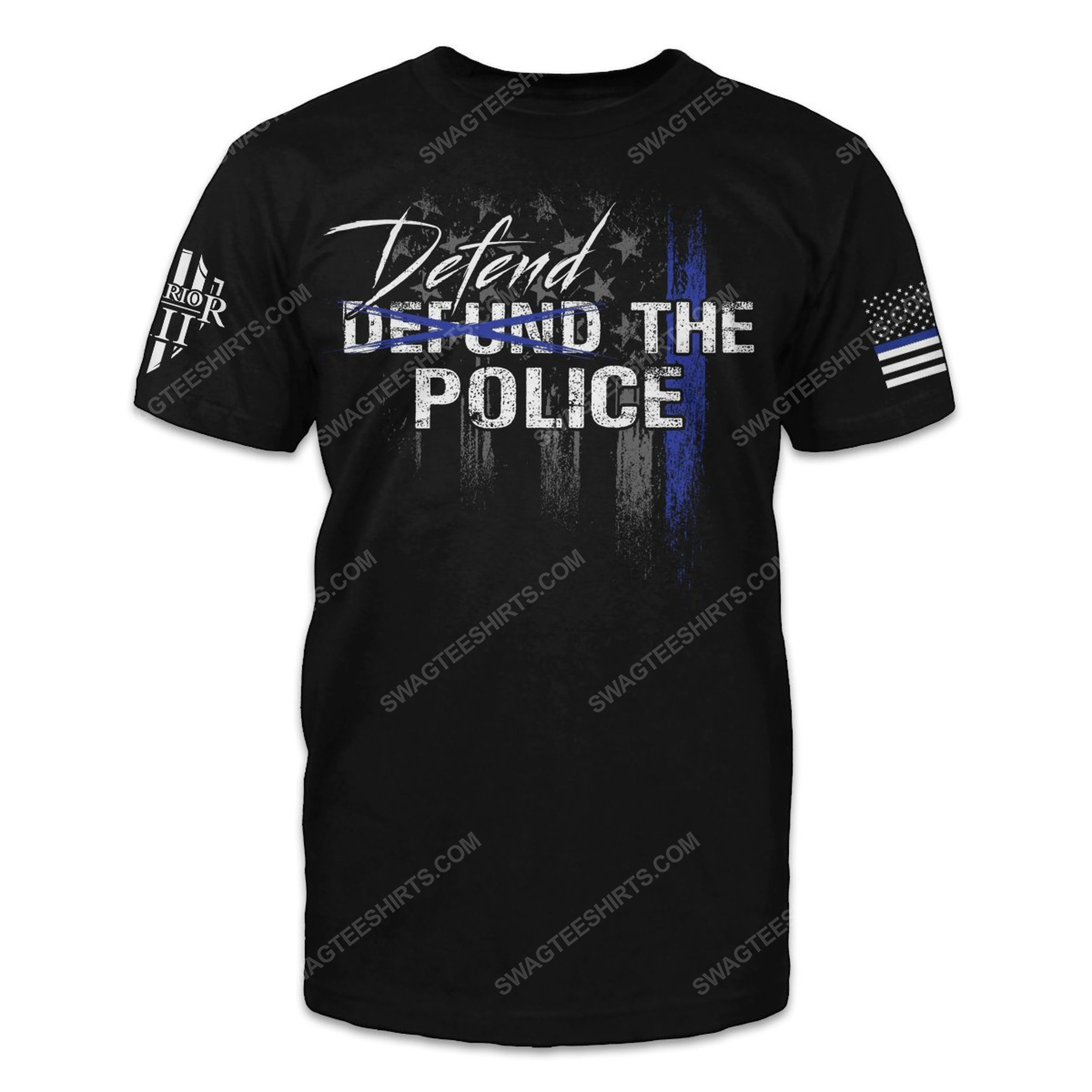 American law enforcement defend the police shirt 2(1)