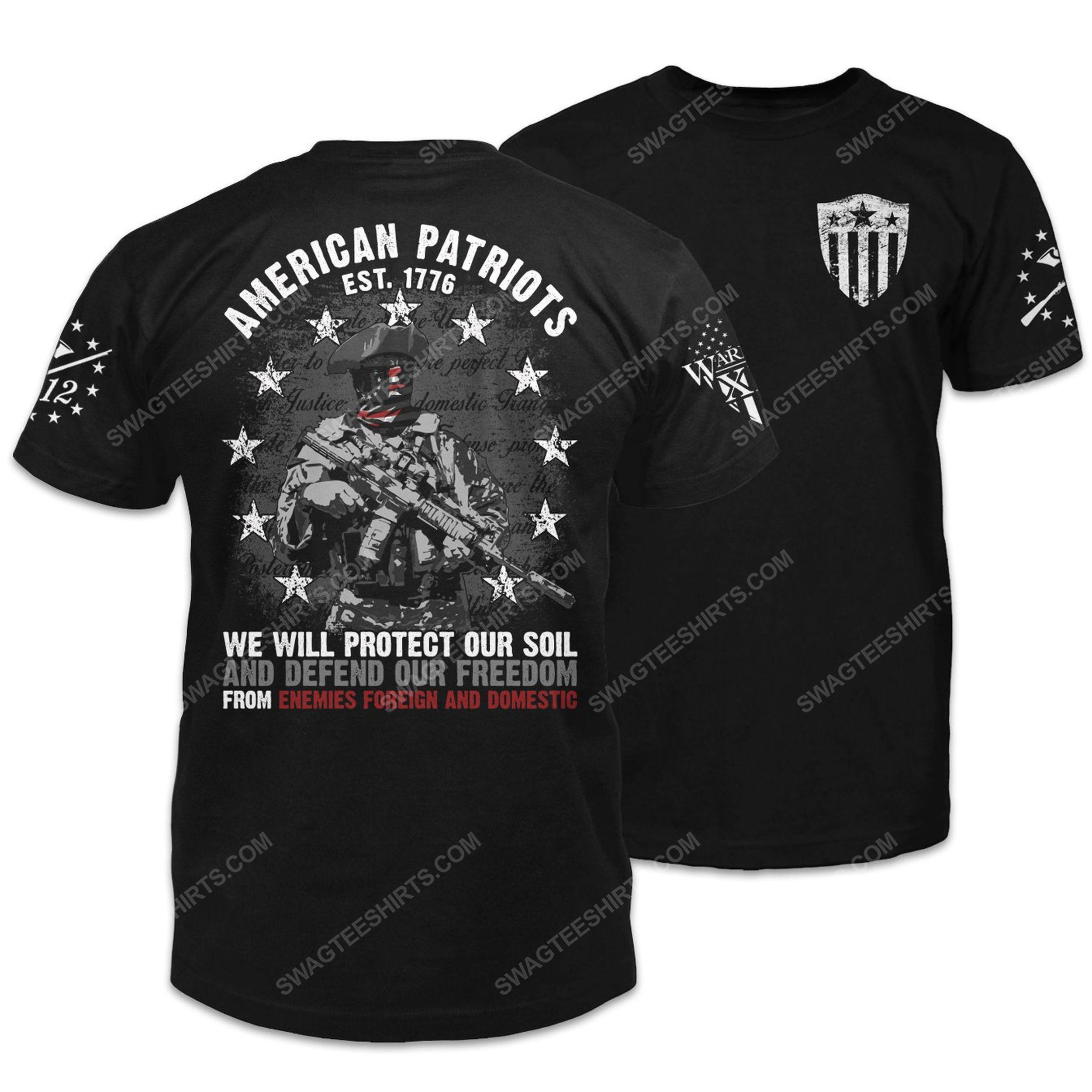 American patriots revolutionary war soldier shirt 2(1)