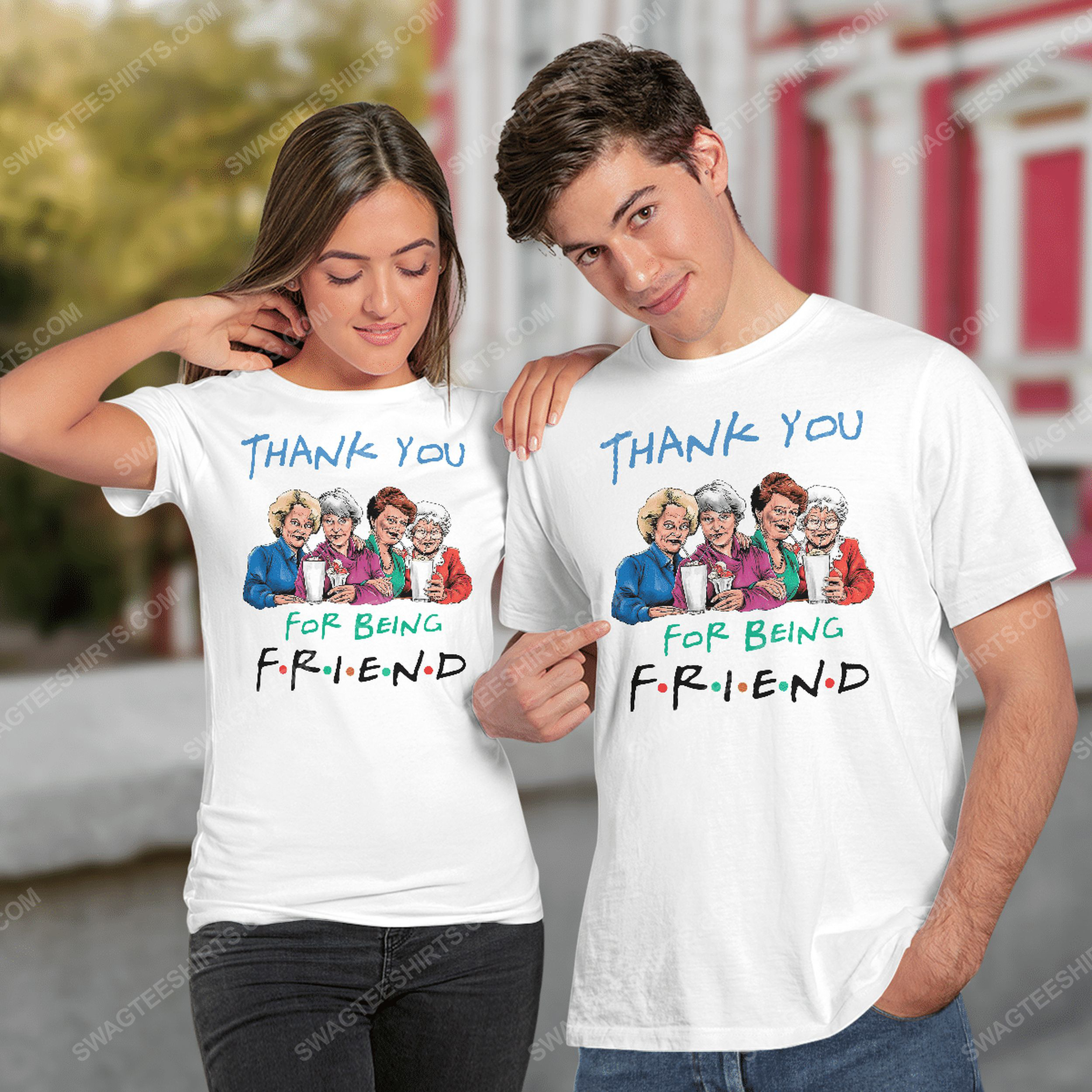 Friends tv show thank you for being friend the golden girls tshirt(1)