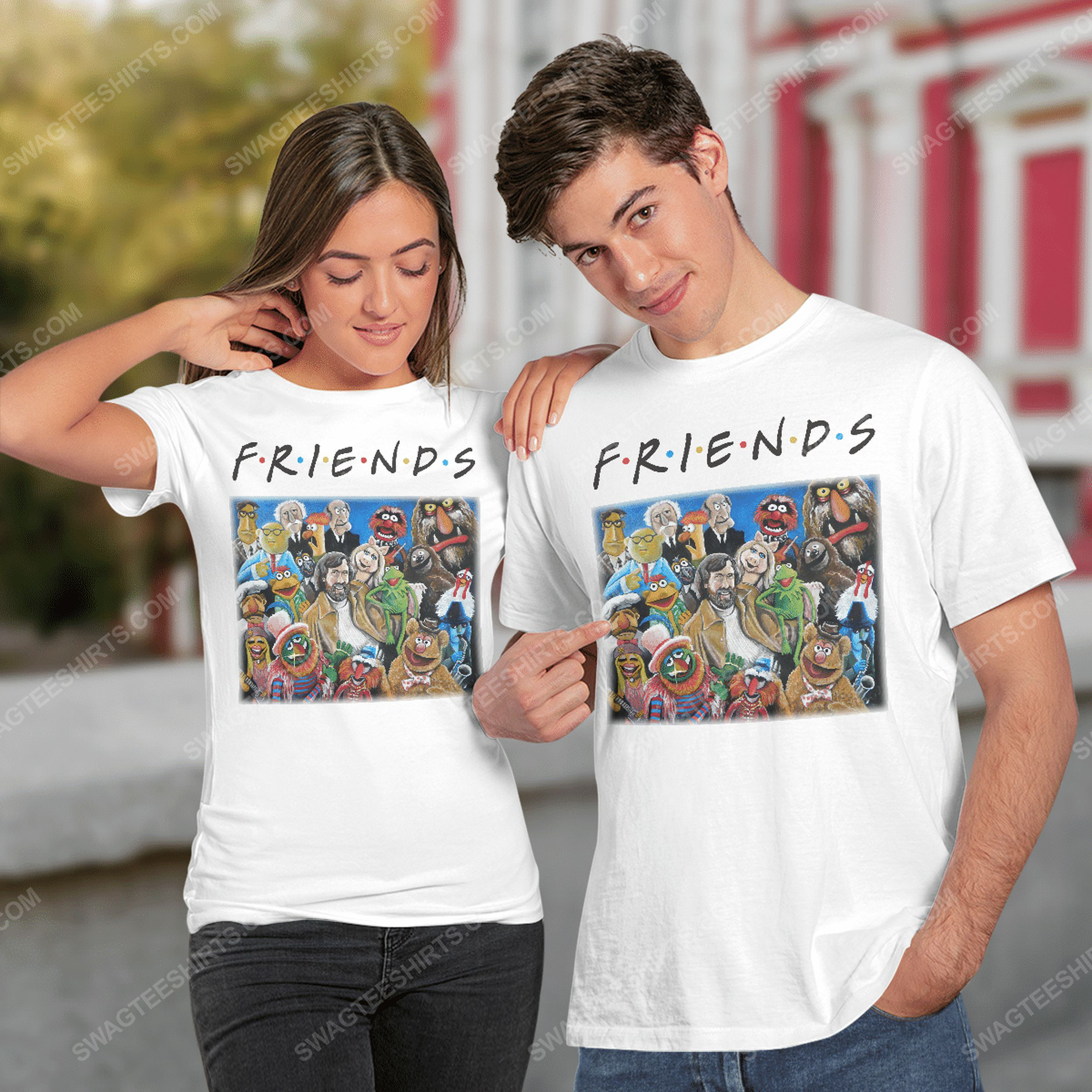 Friends tv show the muppets characters tshirt(1)