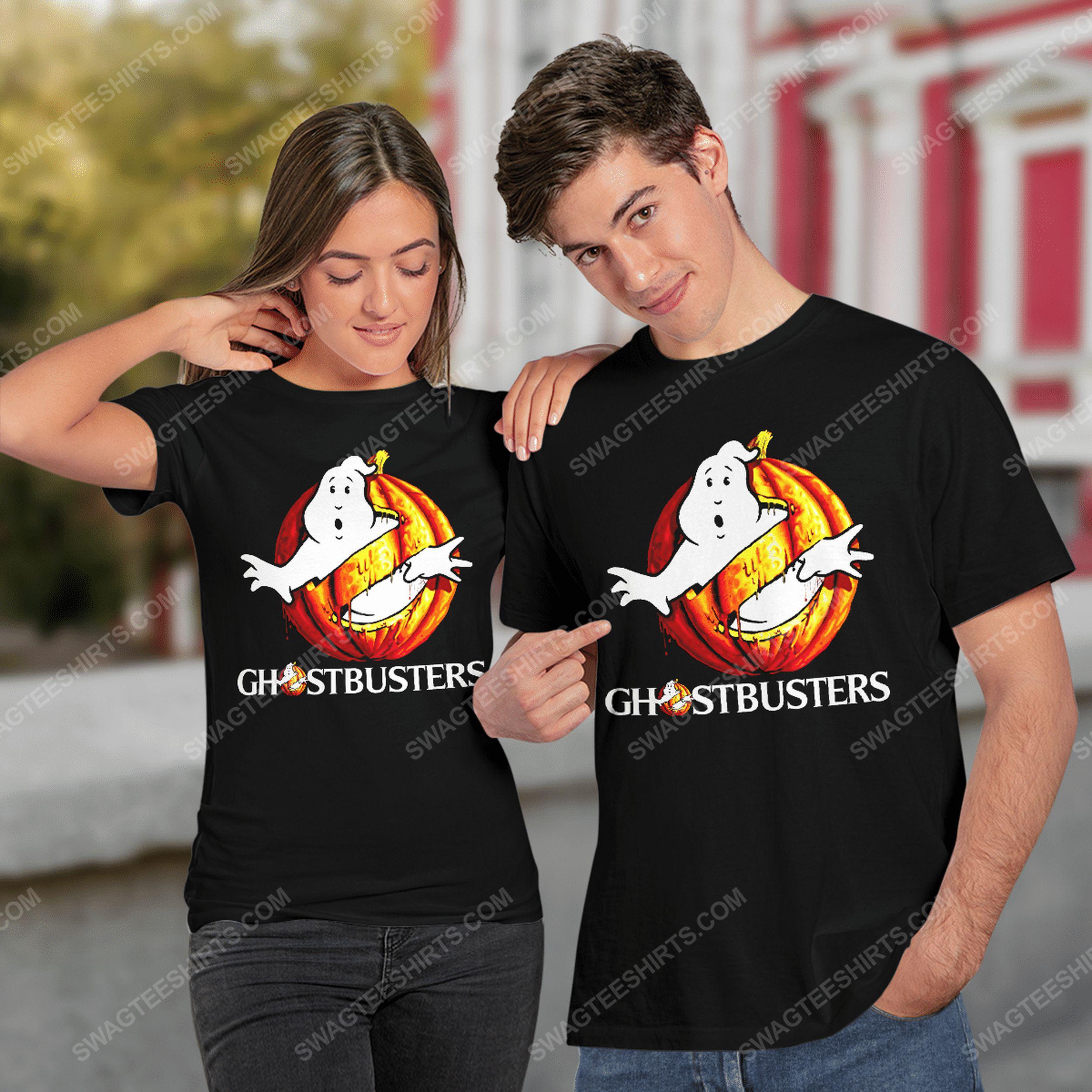 Ghostbusters with halloween pumpkin tshirt(1)