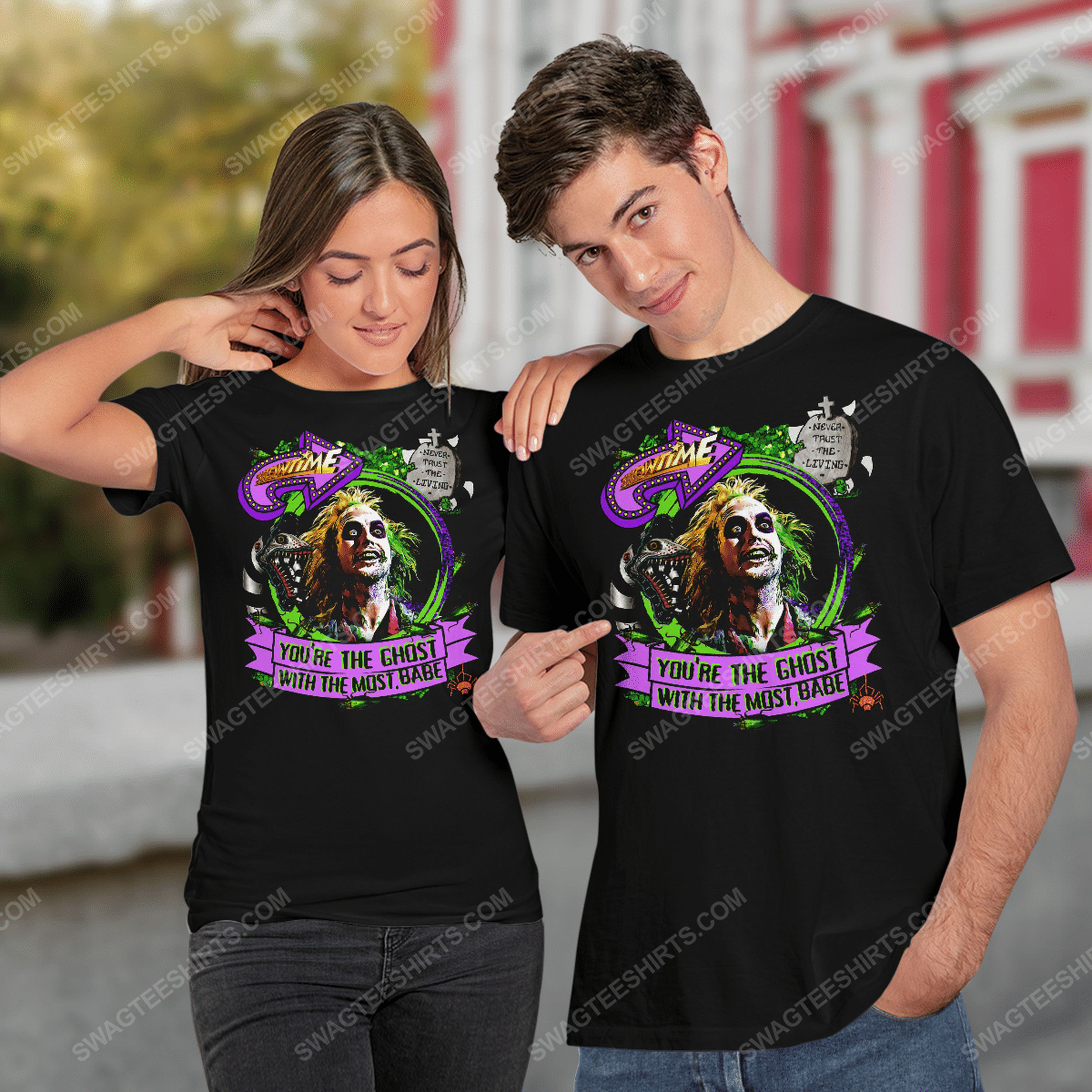Halloween beetlejuice you're the ghost with the most babe tshirt(1)