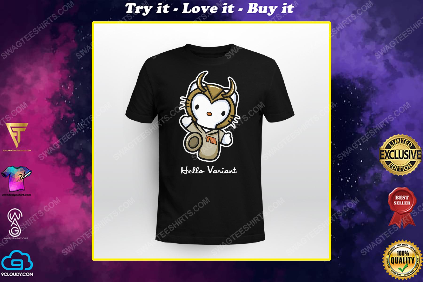 Hello variant hello kitty and loki shirt