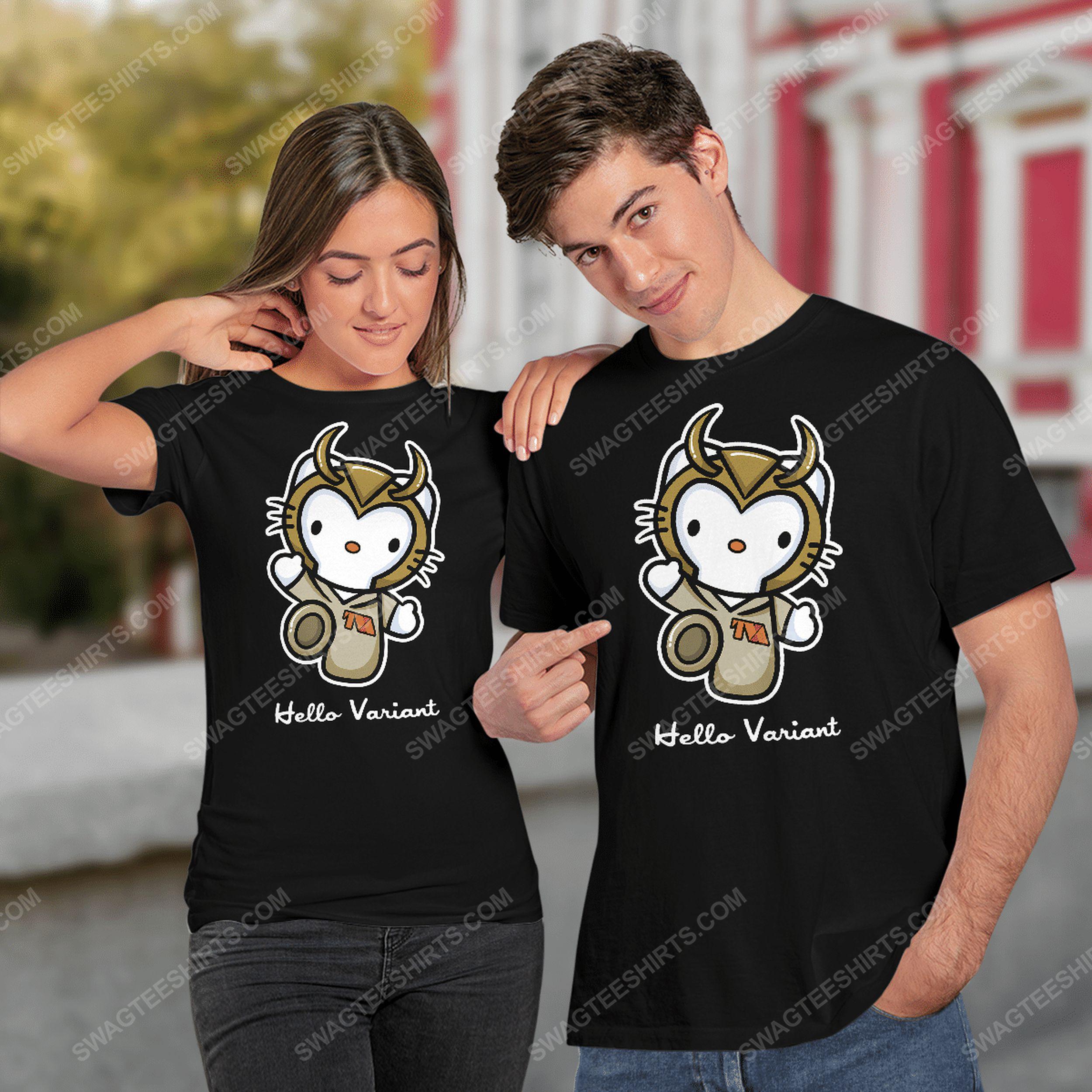 Hello variant hello kitty and loki tshirt(1)