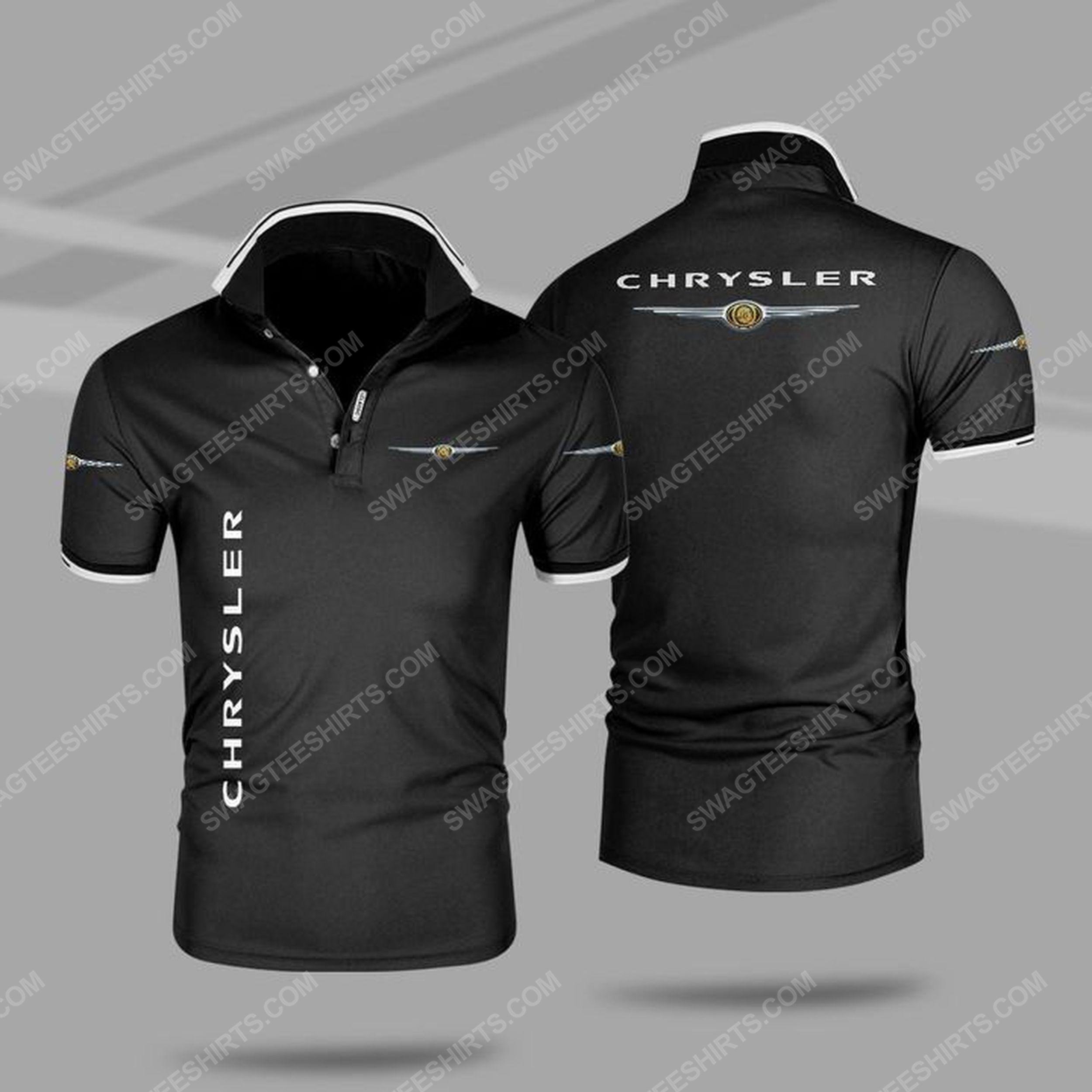 The chrysler car symbol all over print polo shirt - black 1