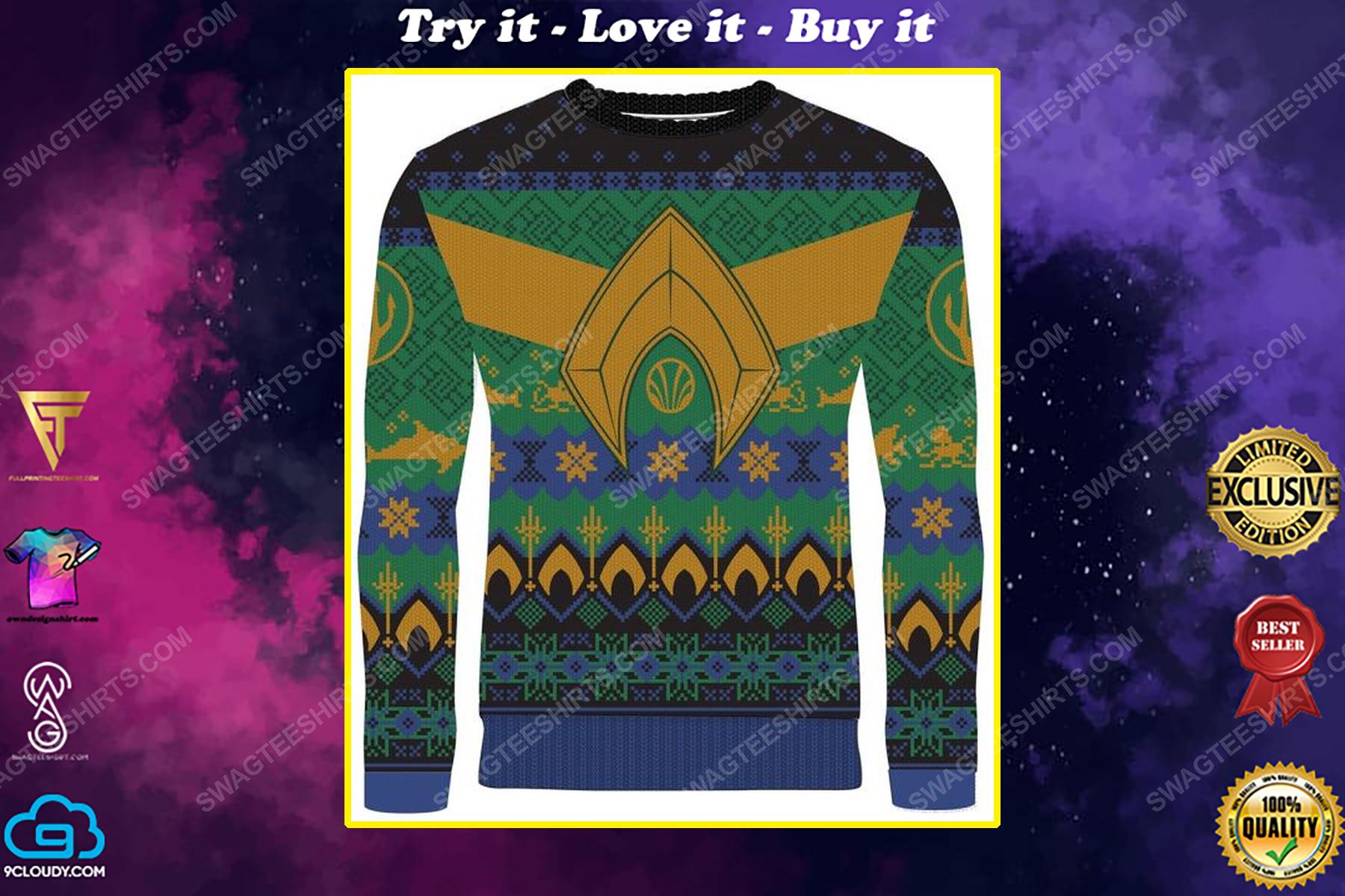 Atlantean tidings full print ugly christmas sweater