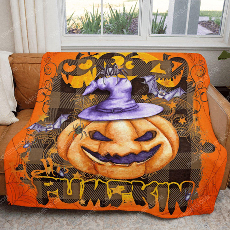 Boo boo pumpkin halloween blanket 4