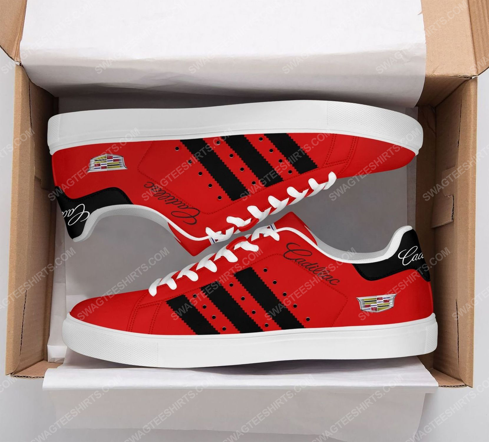 Cadillac car version red stan smith shoes 2