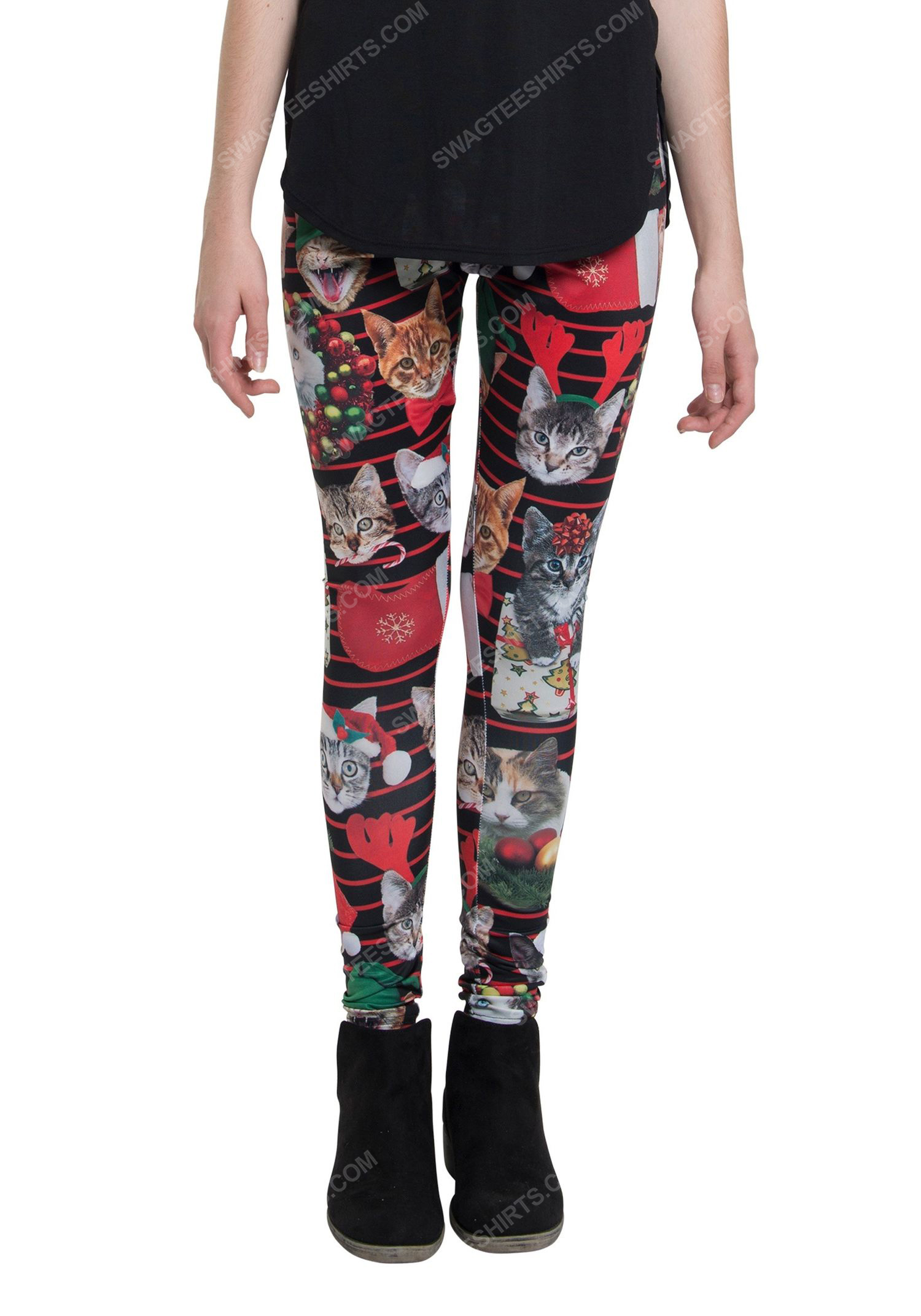 Christmas holiday cat xmas full print leggings 2 - Copy