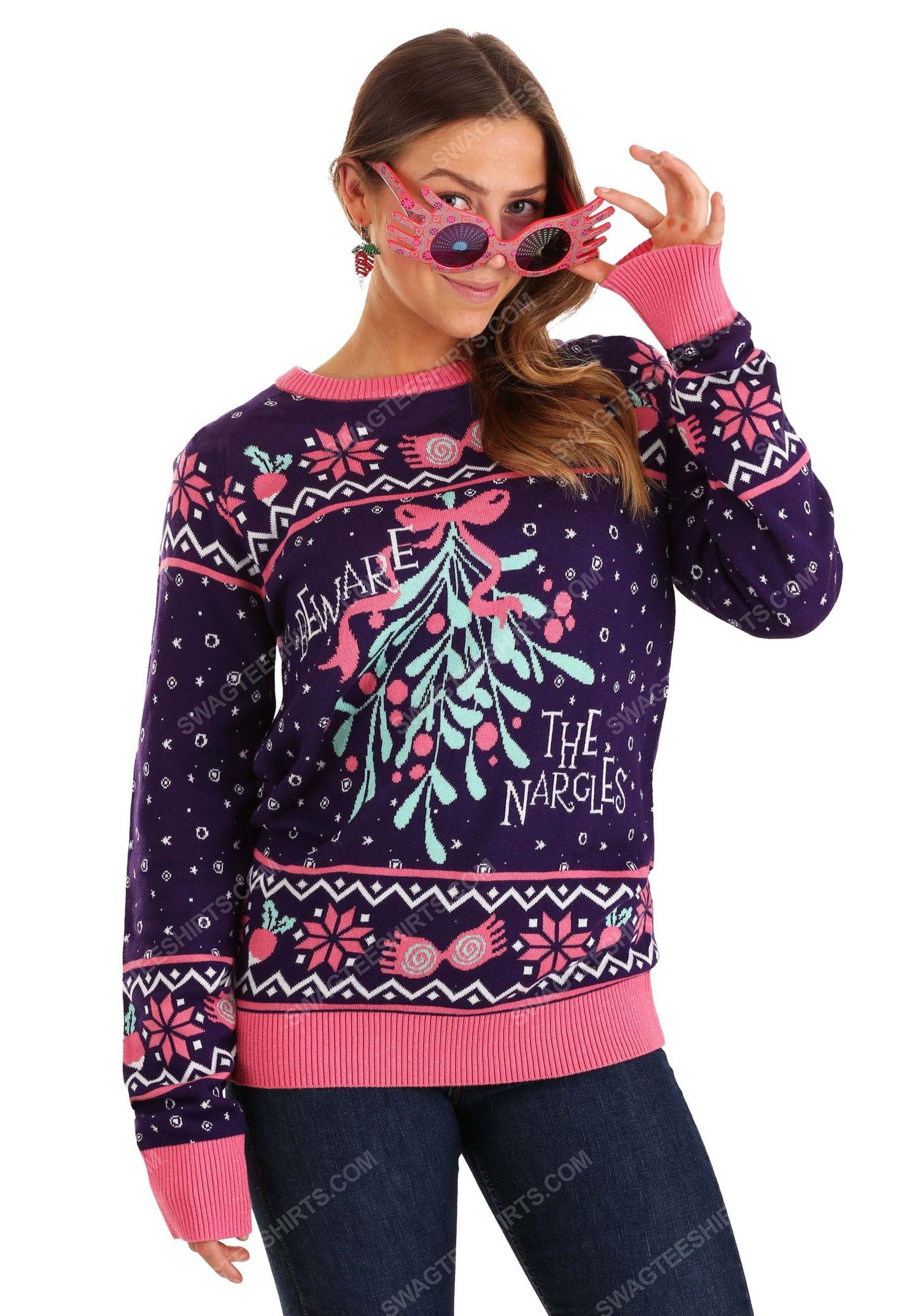 Christmas holiday harry potter luna lovegood full print ugly christmas sweater 2