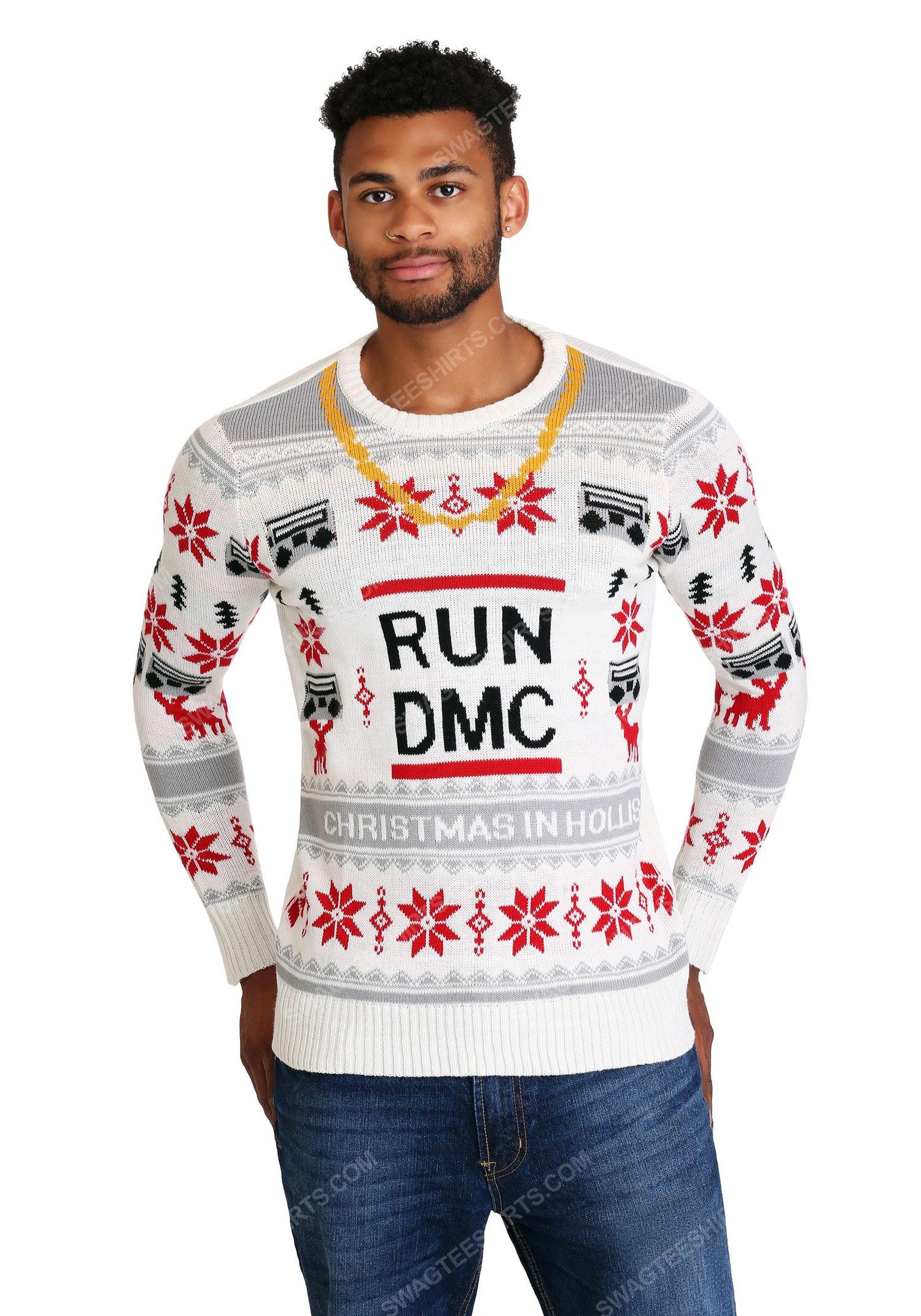 Christmas holiday the run dmc chain full print ugly christmas sweater 2 - Copy (2)