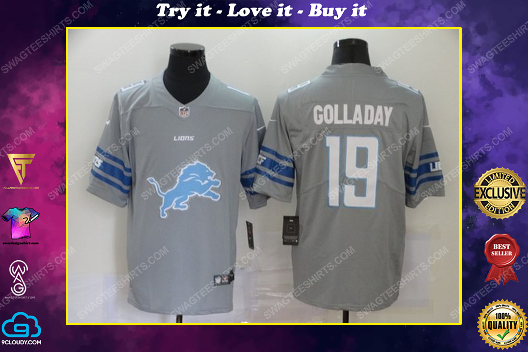 Custom name the detroit lions nfl football jersey