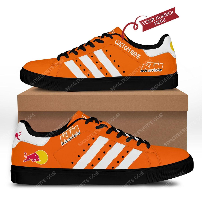 Custom red bull ktm factory racing stan smith shoes - black 1