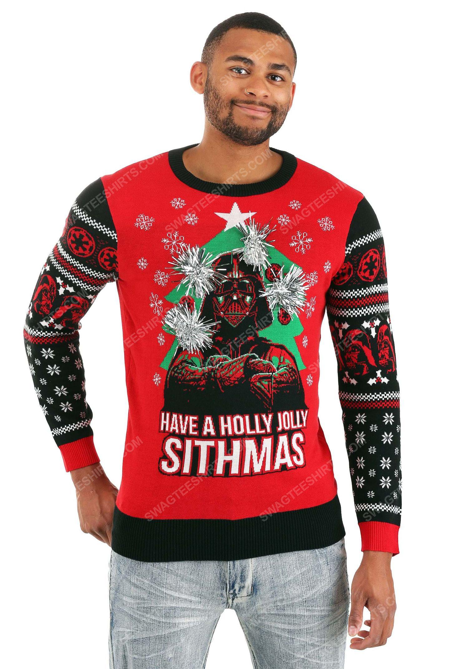 Have a holly jolly sithmas darth vader star wars full print ugly christmas sweater 2 - Copy
