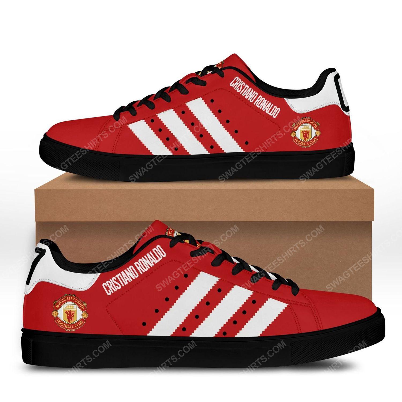 Manchester united cristiano ronaldo stan smith shoes - black 1