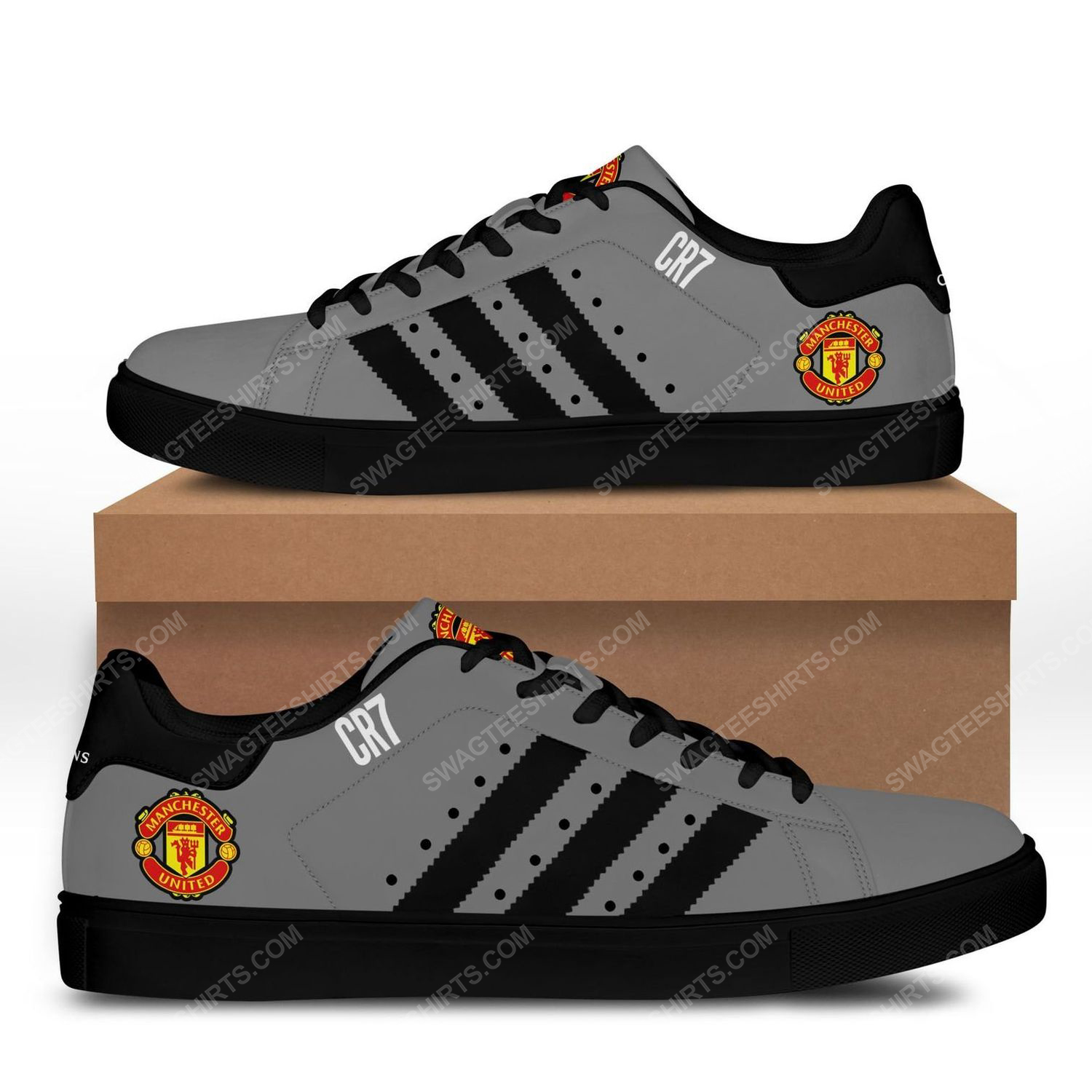 Manchester united football club stan smith shoes - black 1