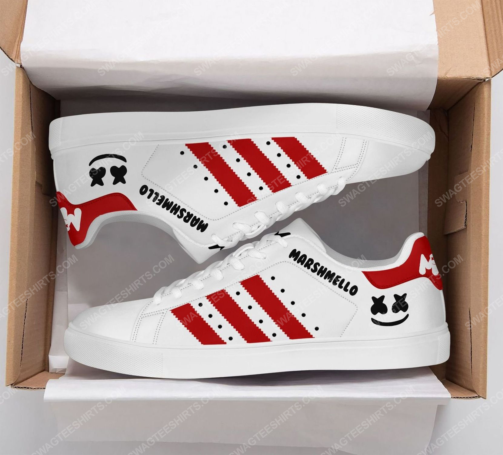 Marshmello american electronic music version red stan smith shoes 2