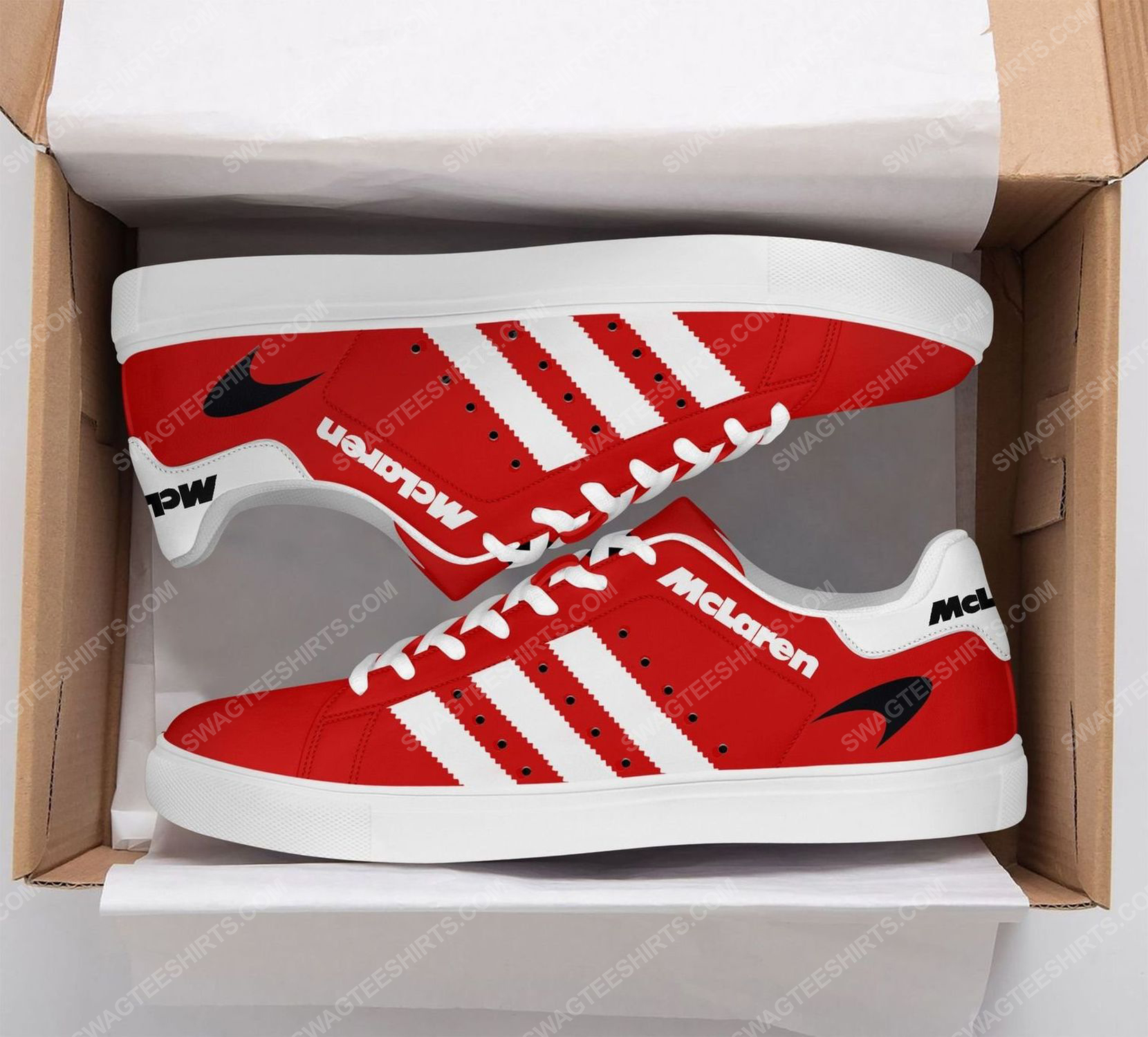Mclaren automotive racing version red stan smith shoes 2