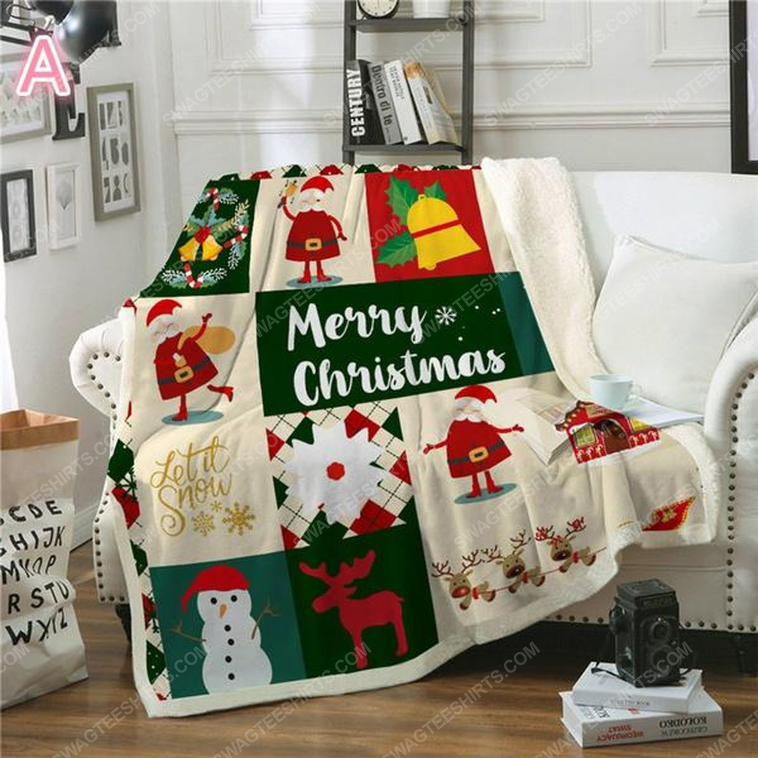 Merry christmas and let it snow blanket 2 - Copy (2)