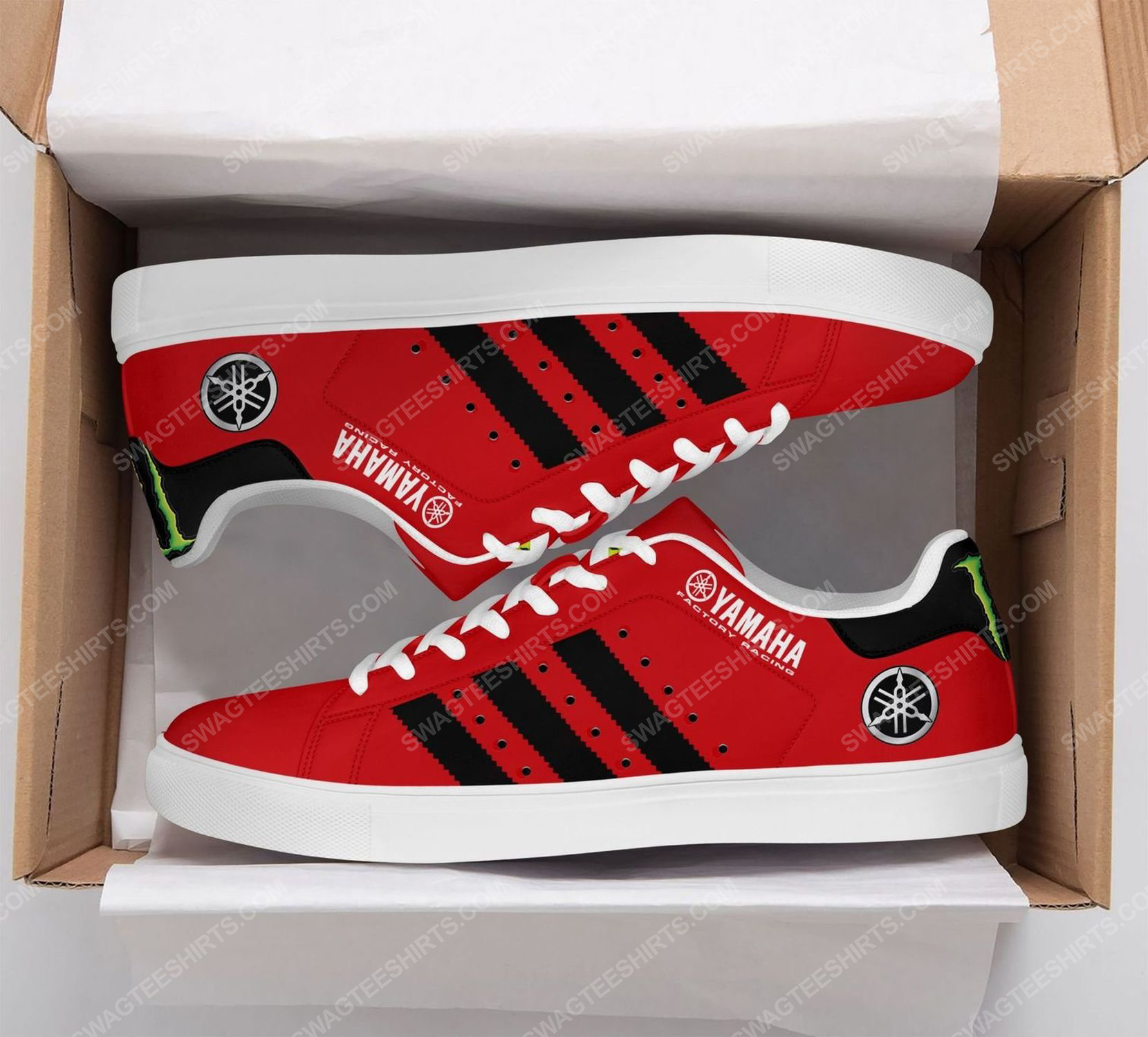 Monster energy yamaha factory racing version red stan smith shoes 2