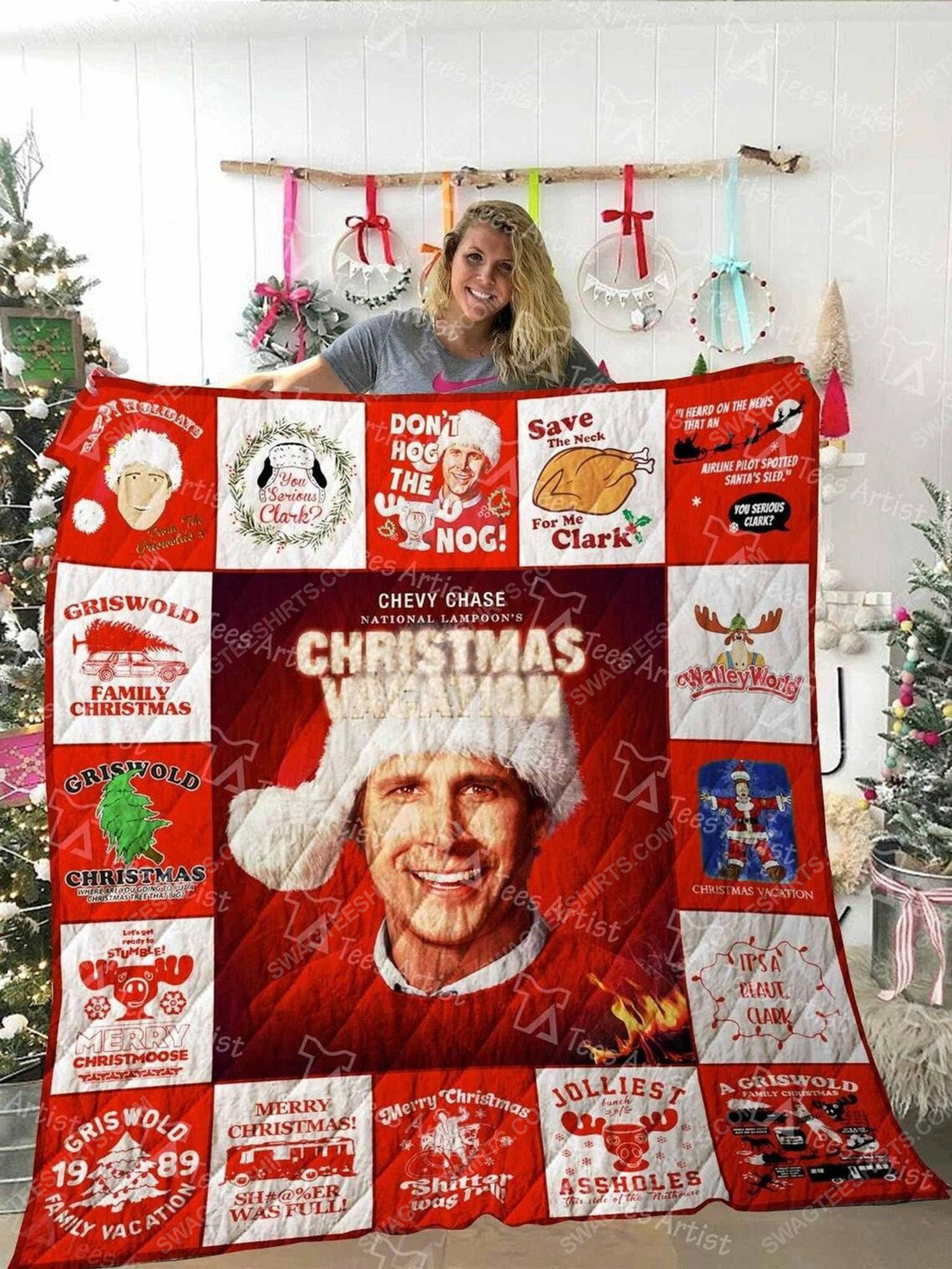National lampoons christmas vacation griswold christmas blanket 2 - Copy (2)