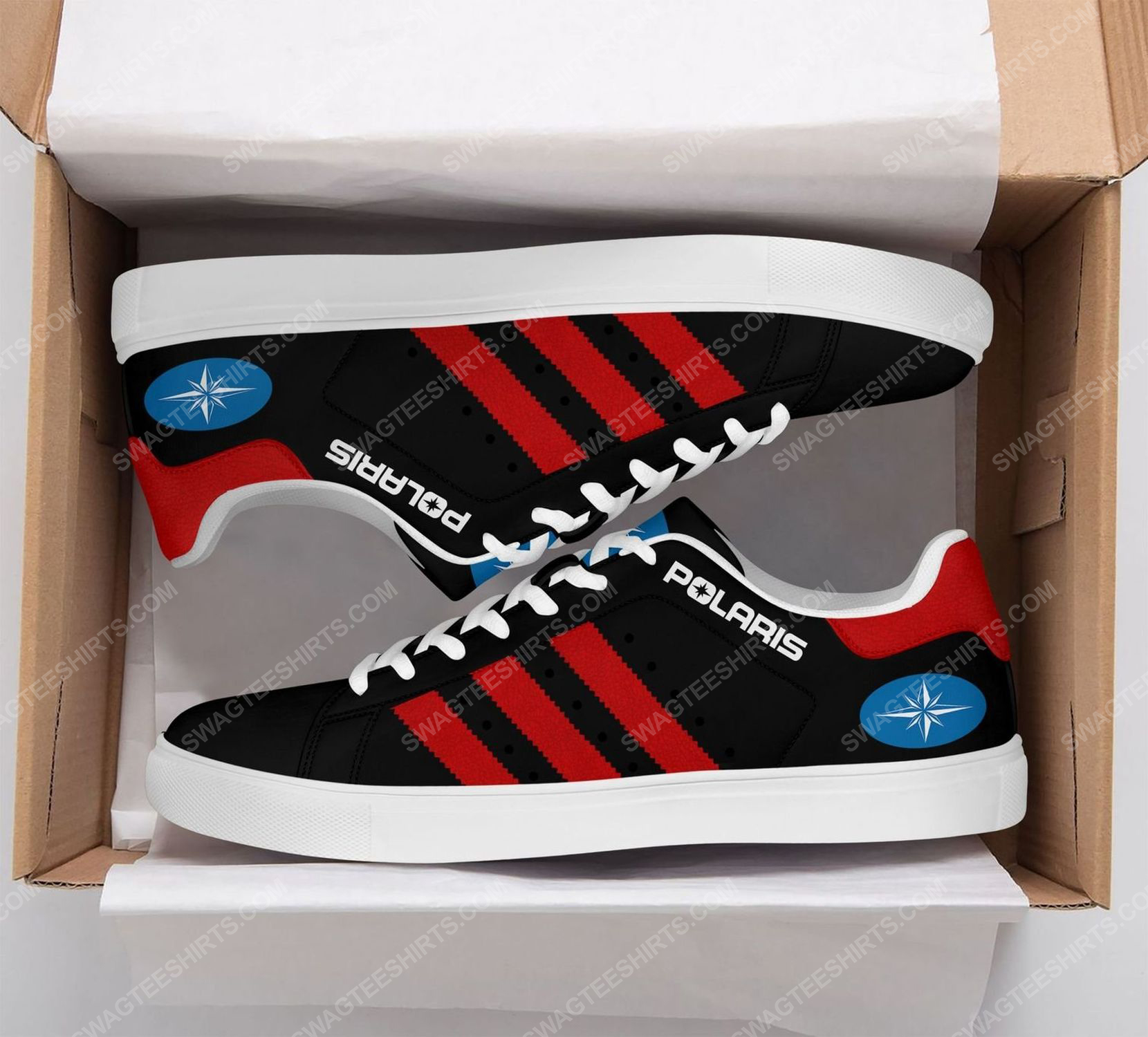 Polaris racing version black stan smith shoes 2
