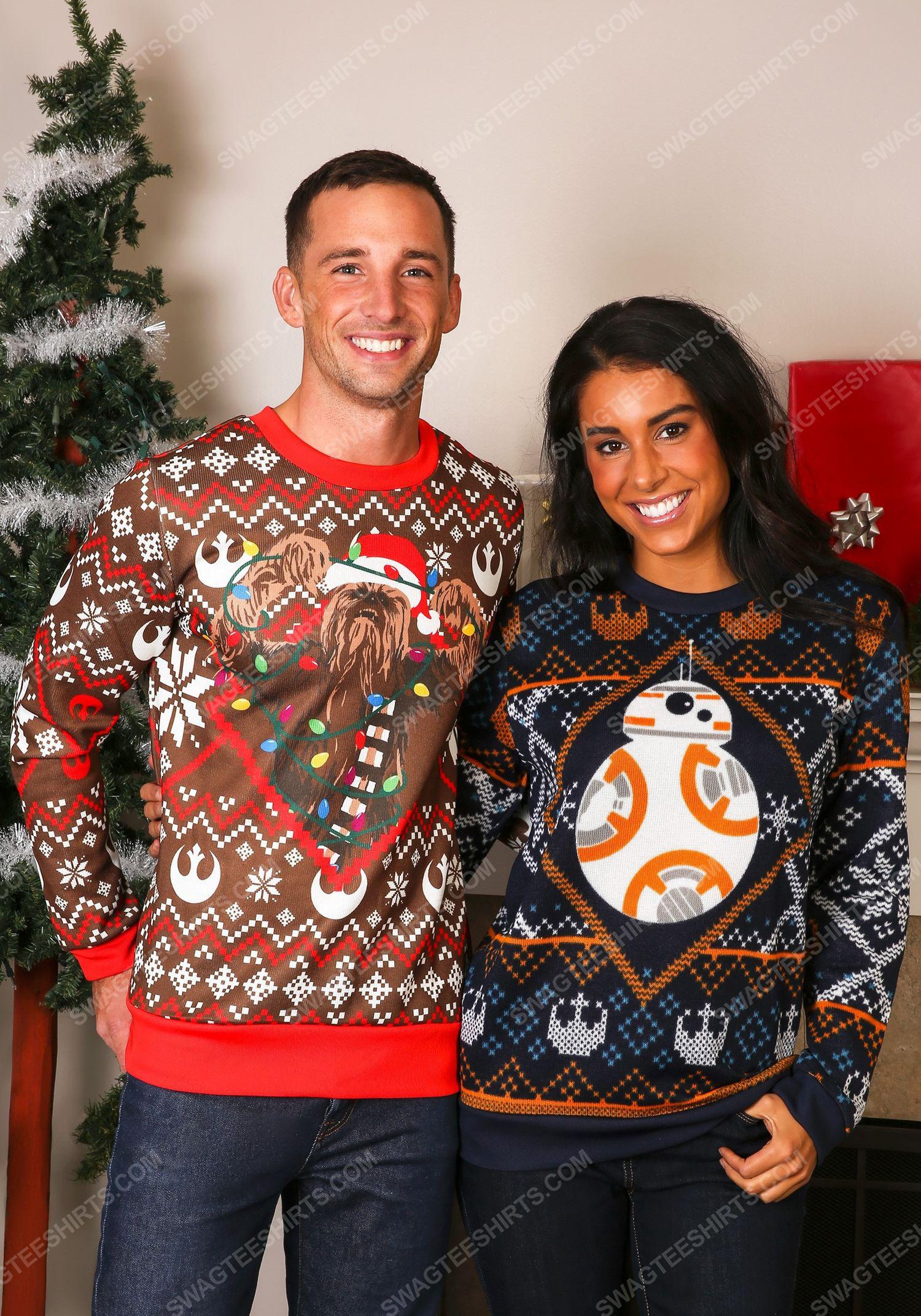 Star wars chewbacca lights full print ugly christmas sweater 4